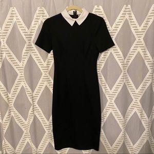 ASOS Goth Wednesday Adams Short Sleeve Midi Dress